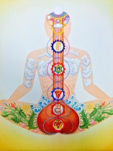 photo postcard image chakras